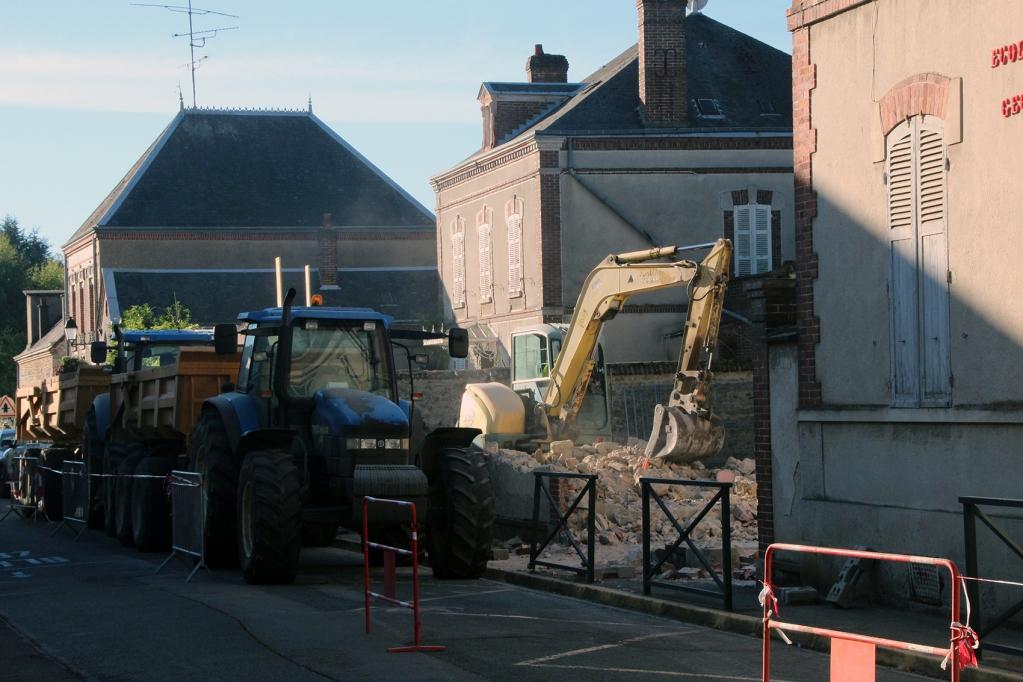 L'ouverture rue de Loigny-la-Bataille avance bien