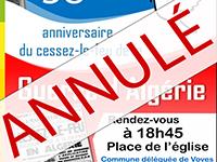 Commémoration 19 mars annulée