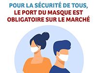 Port du masque obligatoire sur le marché