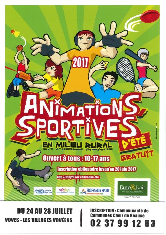 Animations sportives d'été en milieu rural