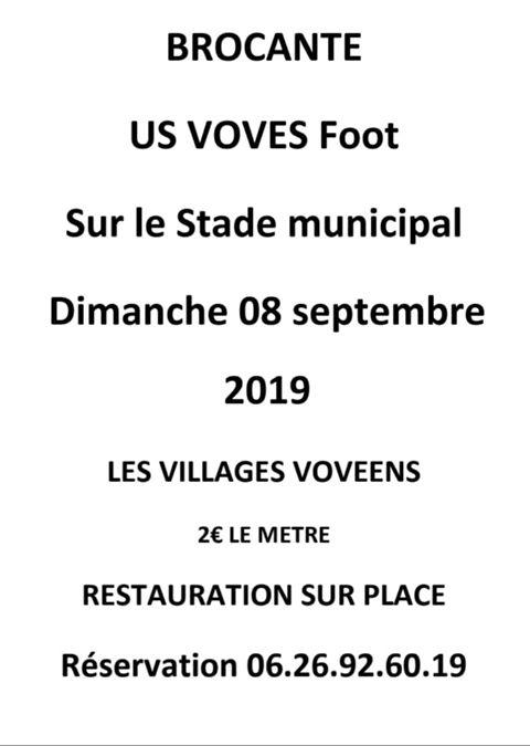 Vide grenier de l'US Voves Foot