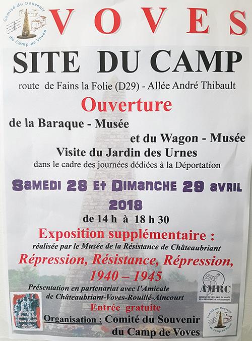 Ouverture site du camp de Voves