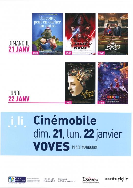 Programme Cinémobile janvier 2018
