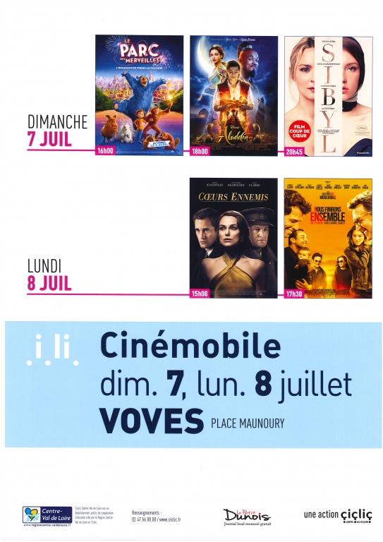 Cinémobile 7 et 8 juillet 2019