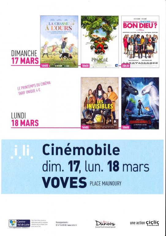 Cinémobile 17 et 18 mars 2019