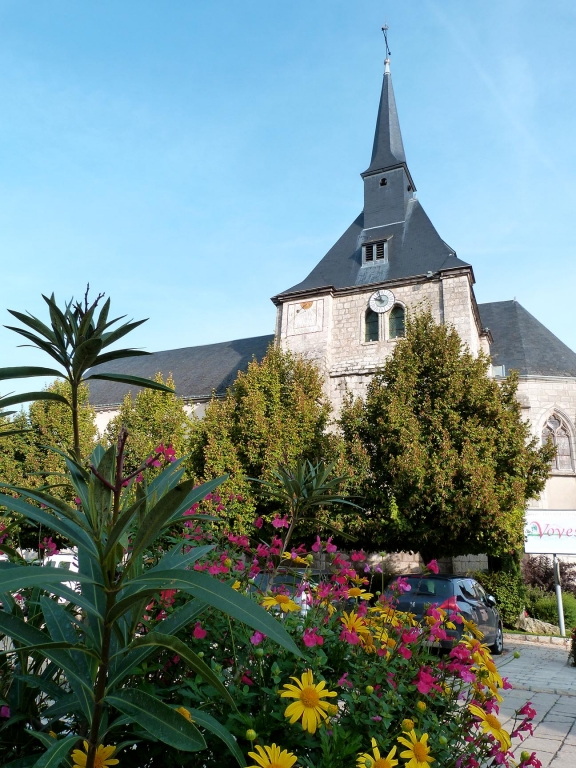 Eglise et fleurissement
