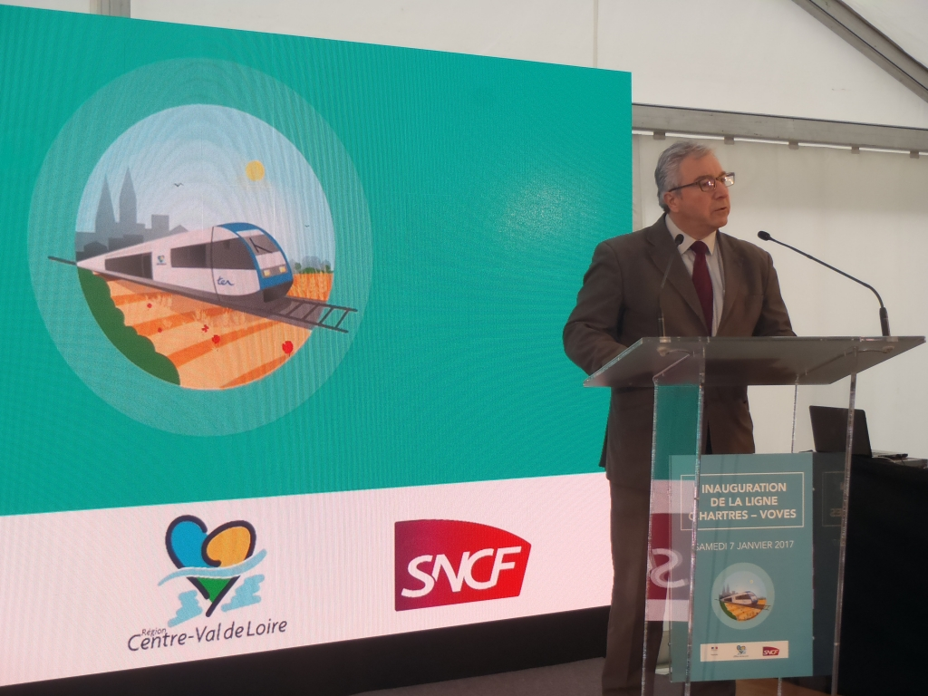 Inauguration de la ligne SNCF Voves-Chartres