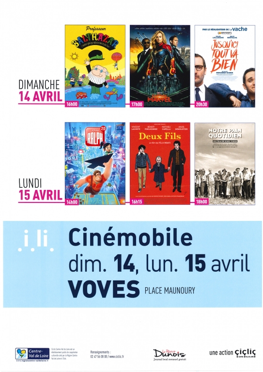 Cinémobile avril 2019