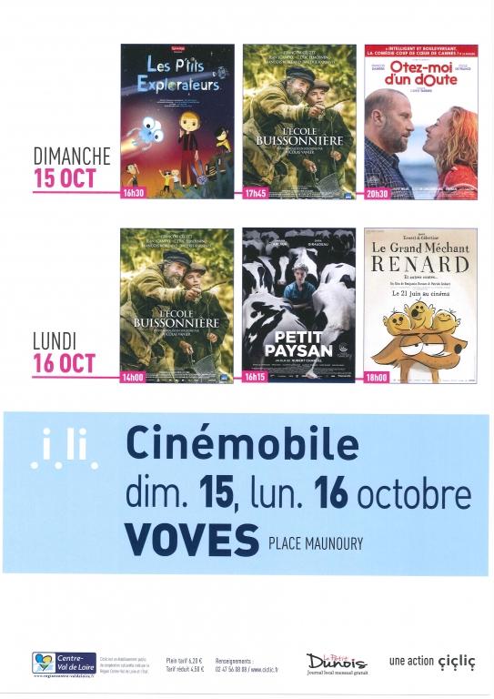 Cinémobile Octobre